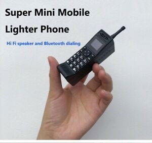 Super Mini Electronic Lighter MobilePhone Nostalgic Classic Style Bluetooth Dial