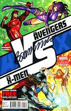 THE AVENGERS VS. THE X-MEN #4 SIGNED BY ARTIST BRANDON PETERSON