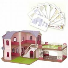 Rare Sylvanian Families large house with carport (lavender) Fan club LTD Japan