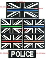 Police Thin Blue Line Police union jack Iron On Sew On Embroidered Patch badge