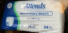 """Attends Breathable Briefs 24 pack Medium Unisex 32"""" to 44"""" New"""