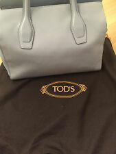 Authentic TODS BLUE LEATHER TWO TONE TOTE BAG!!! LISKOR