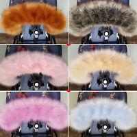 Luxury Pram Fur Hood Furs Trim Baby Pram Bugaboo Chicco Joie Mothercare Britax
