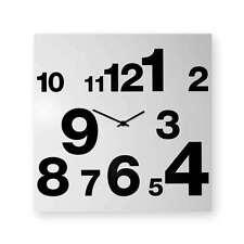 dESIGNoBJECT Orologio da muro Numbers Line bianco 50x50 Made in Italy