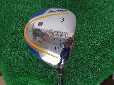 Tour Edge Golf Bazooka GeoMax 2 3 Fairway Wood 15* Stiff Flex Graphite Shaft NEW