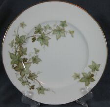 Noritake Trailing Ivy 2760 Brown & Green Leaves / Vine Luncheon Plates Ireland