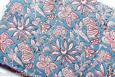 Flower Print Indian Hand Block Running Loose Cotton Fabric Printed Decor 3 Yard