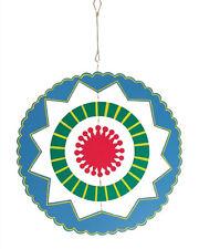 Kaleidoscope Blue and Fuchsia Mobile Garden Kinetic Wind Spinner Wheel 18x26
