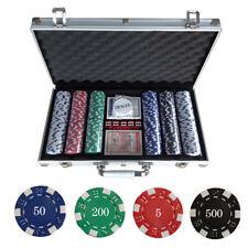 Pokerkoffer Pokerset Pokerchips Jetons 300 Chips Alu Koffer NEU TOP Poker Set