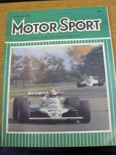 Nov-1980 Motor Sport Magazine: Weekly Motoring Newspaper Vol  LVI No.11 - Outsta
