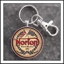 Norton Motorcycle Sign photo keychain men's gift 🎁 Christmas