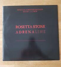 "Rossetta Stone - Adrenaline  Vinyl 12"" Single EXPRT13L Dead Line Mix Ltd Edition"