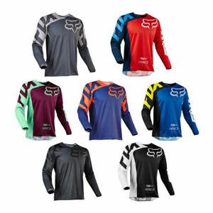 Mens FOX Downhill Jersey Long Sleeve Shirt Racing Off-Road Mountain Bike Jersey❤