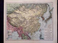 Landkarte von Zentral- und Ostasien, China, Japan, Dr. A.Berg, Leipzig 1905