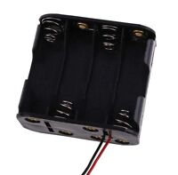 8x AA Size Cell Battery Clip Holder Storage Box 12V Case With Wire Lead Pip UK