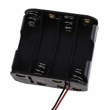 8x Aa Size Cell Battery Clip Holder Storage Box 12V Case With Wire Lead Wb
