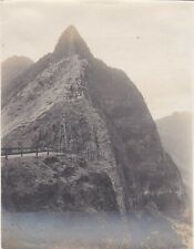 VINTAGE PHOTOGRAPH SNAPSHOT IN EARLY 1900 PALI LOOKOUT OAHU, HAWAII
