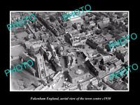 OLD LARGE HISTORIC PHOTO OF FAKENHAM ENGLAND, VIEW OF THE TOWN CENTRE c1930 1