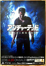 Uncharted 4 RARE PS4 51.5 cm x 73 Japanese Promo Poster