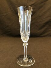 "Saint St. Louis Crystal Tommy Champagne Flute Glass 8 1/8"" H France MANY"