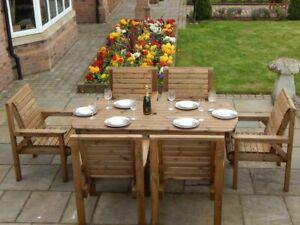 Handmade Wooden Garden & Patio Furniture Sets For Sale | EBay