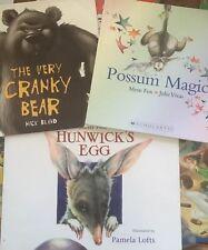 Possum Magic, Hunwick's Egg & The Very Cranky Bear  - Mem Fox - Small Softcover