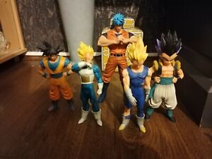 """5 DRAGON BALL Z FIGURE BIG 9"""" TO 7"""" INCH RARE LARGE LOOK AMAZING TOGEATHER 10"""
