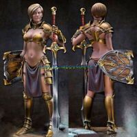 Unpainted 1/24 Ancient female warrior Kayla Figure Model Garage Kits Resin GK
