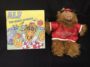Vintage Alf Alien Productions Orbiters Baseball Hand Puppet Plush 80s & Alf Book