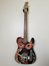 Obey Propaganda Squier by Fender Telecaster Guitar Limited Edition Flame Neck