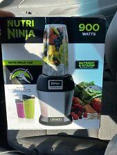 BRAND NEW Nutri Ninja Pro Blender 24 oz 900 Watts Black / Silver Juicing Shakes