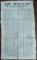 1812 9) ECCEZIONALE MANIFESTO SULLA BATTAGLIA NAPOLEONICA DI SMOLENSK