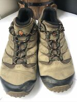 Merrell Cham 7 GTX Mens Waterproof Brown Walking Hiking Shoes Trainers Size 12