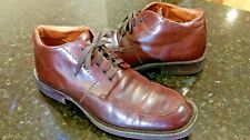 Johnston And Murphy Lace Up Brown  Leather Boots Sz 9.M / 20-2660