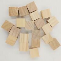 Kids Wooden Colourful Blocks Cubes Square Craft Pieces Play