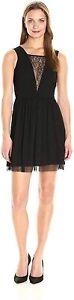 NWT BCBGeneration Lace Panel Sleeveless Dress Black US 2