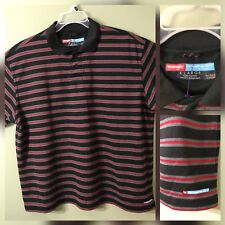 Wrangler Clothing Men Polo Shirt Button Front Stripes Polo Size Extra Large