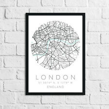 Bedroom City Place Circle Wall Decor Print Wall Saying Art Pictures