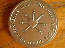 Anhänger Medaille Herz Schwert Ein Geist mit Dir durch brennende LIEBE - Münster