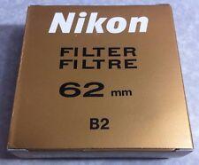 Genuine Nikon 62mm B2 Blue Color Lens Glass Filter Japan OEM Origianl 62 mm