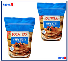 2 x 4.53kg KRUSTEAZ Butter Milk Complete Pancake Mix | add water - £10.25 each