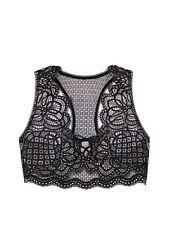 M Victoria's Secret Dream Angels Lace Up Bralette Bra NEW Size Medium NWT Black