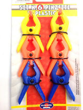 """2"""" 6pcs Hard Plastic Spring Clamps Market Stall Clips Grip Jaw Clamp DIY tools"""