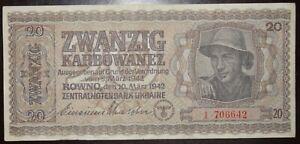 Ukraine 20 Karbowanez 1942 Р53 Rowno 1.706642