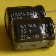 ELNA 35V 220uF Low-ESR Electrolytic Capacitor x10pcs. Free Ship with Tracking No