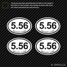 "(4x) Molon Labe 5.56 Ammo Can Sticker Set Decal measures 2.5"" x 1.72"" bullet 556"