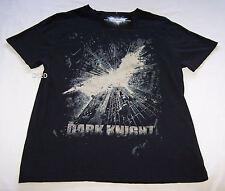 Batman The Dark Knight Rises Logo Mens Black Printed T Shirt Size L New