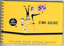 1957 Bolex 8mm Cine Camera Filming Guide Book, Other Instruction Manuals Listed