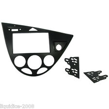 CT23FD32 FORD FOCUS 1999 - 2005 BLACK DOUBLE DIN FASCIA FACIA ADAPTOR PANEL