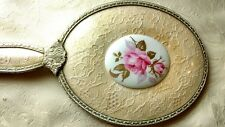 Regent of London Petit Point mirror, hair and clothes brush set , rose medallion